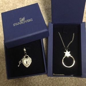 Swarovski Necklace and Charm Set